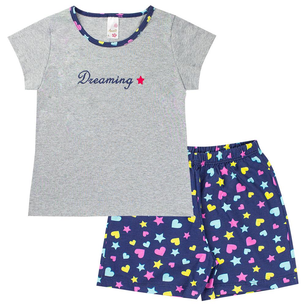 Kit 4 Pijama Infantil Menina Roupas de Dormir Feminina