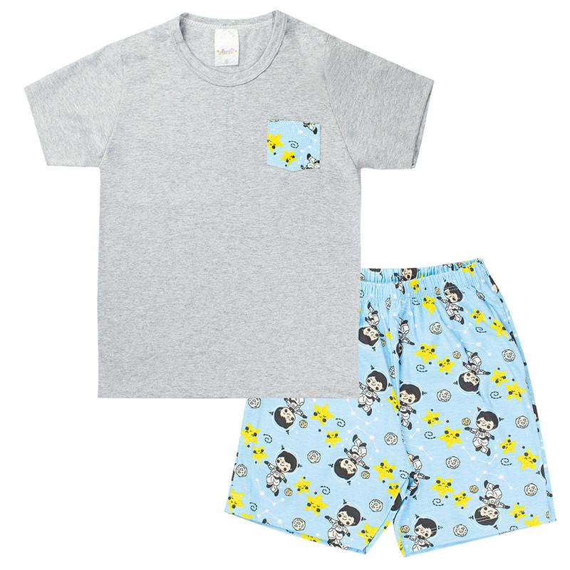 Kit 4 Pijamas Infantil Menino Roupas de Dormir Masculina