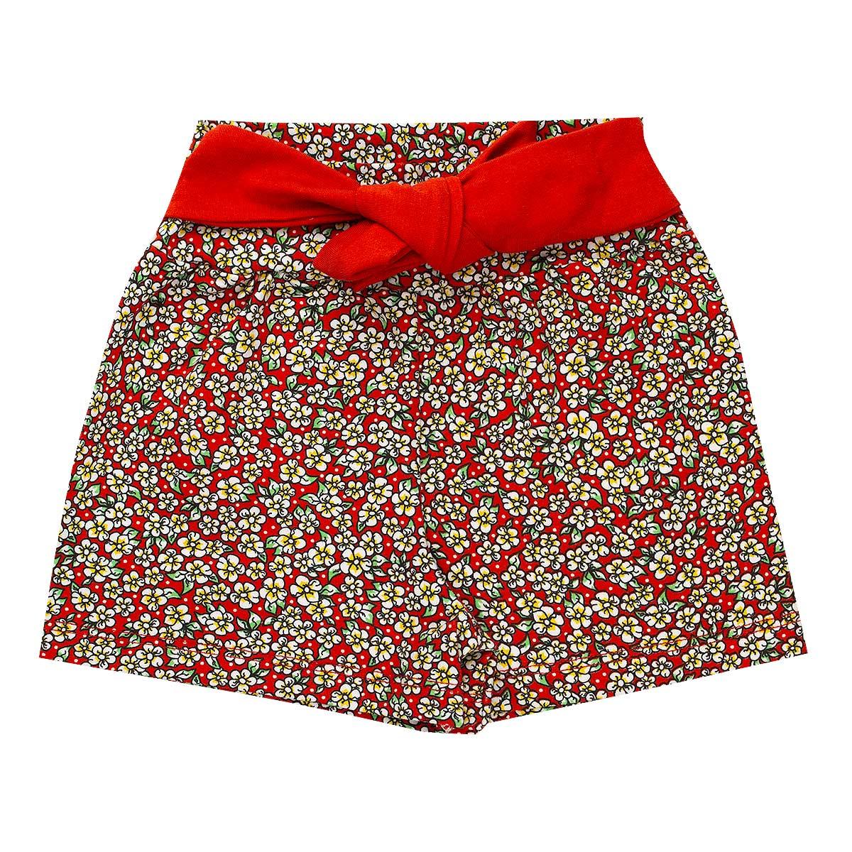 Kit 4 Shorts Infantil Menina Estampado - Fantoni