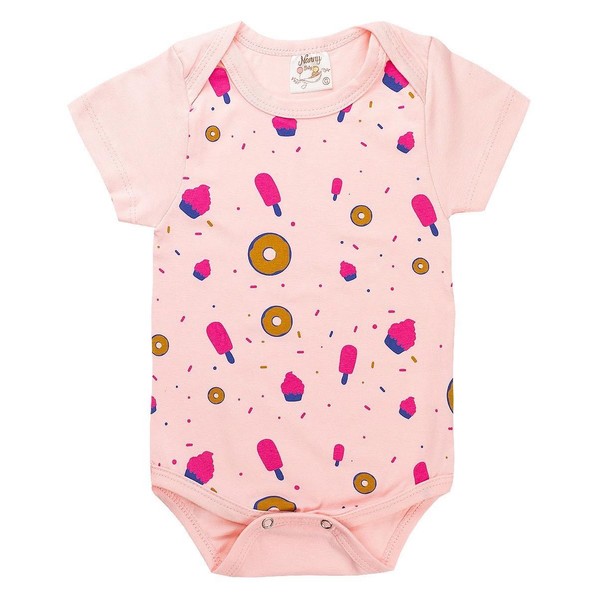Kit 5 Bodies Infantil Bebê Menina Verão