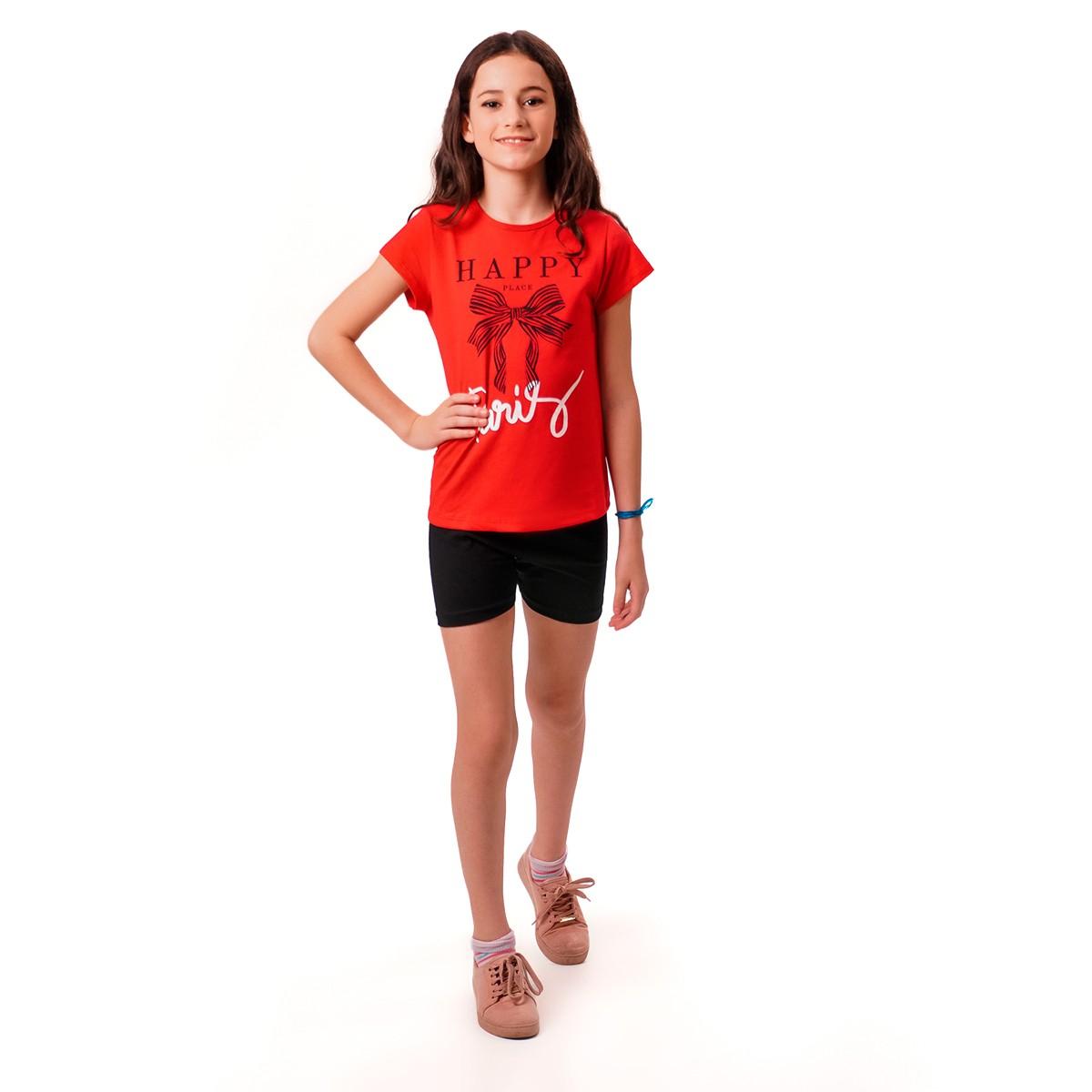 Kit 5 Conjuntos Infantis Menina Cotton Verão 10 12 14 Anos