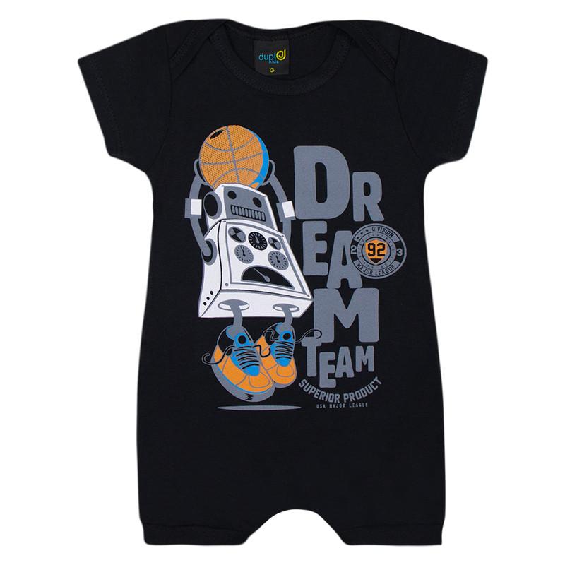 Kit 5 Macaquinho Infantil Menino Bebê Estampado Cor Sortidas