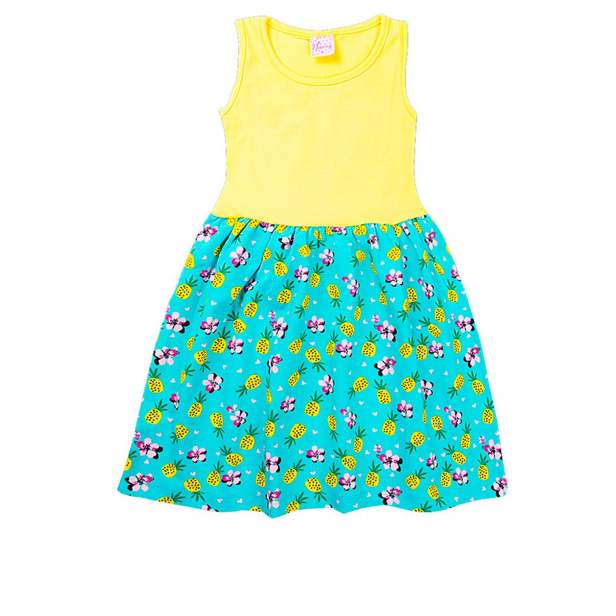 Kit 5 Vestidos Infantil Meninas Cotton Estampas Rotativas