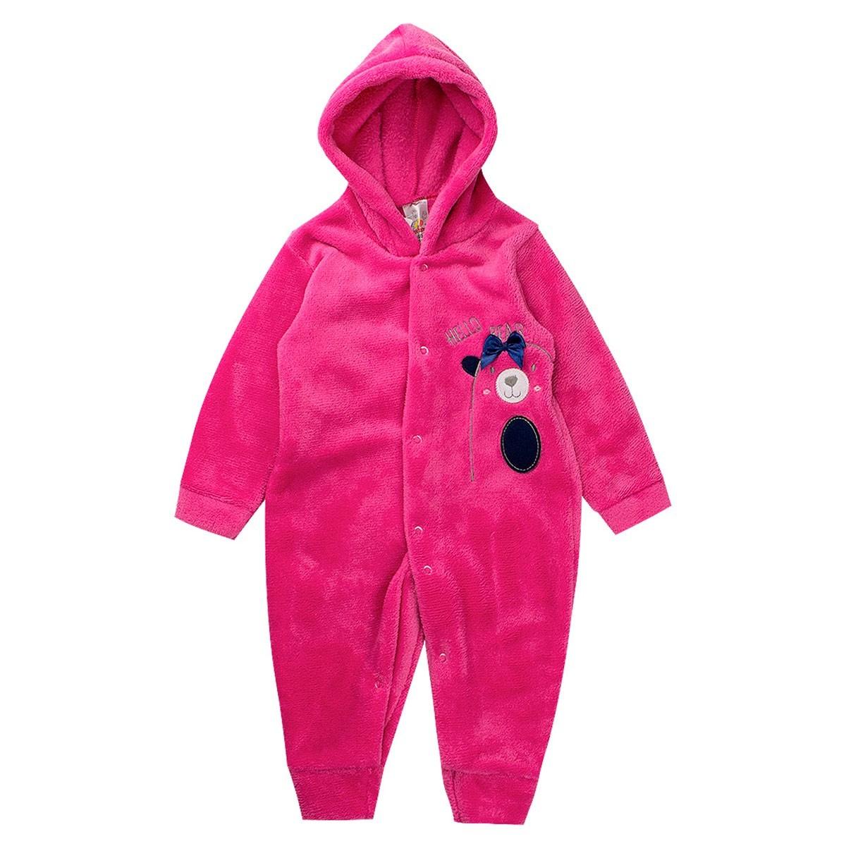 Macaquinho Bebê Menina Plush Antialérgico Pink - Isensee