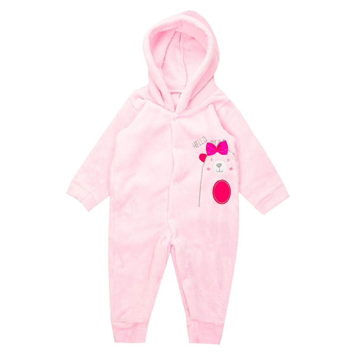 Macaquinho Bebê Menina Plush Antialérgico Rosa - Isensee