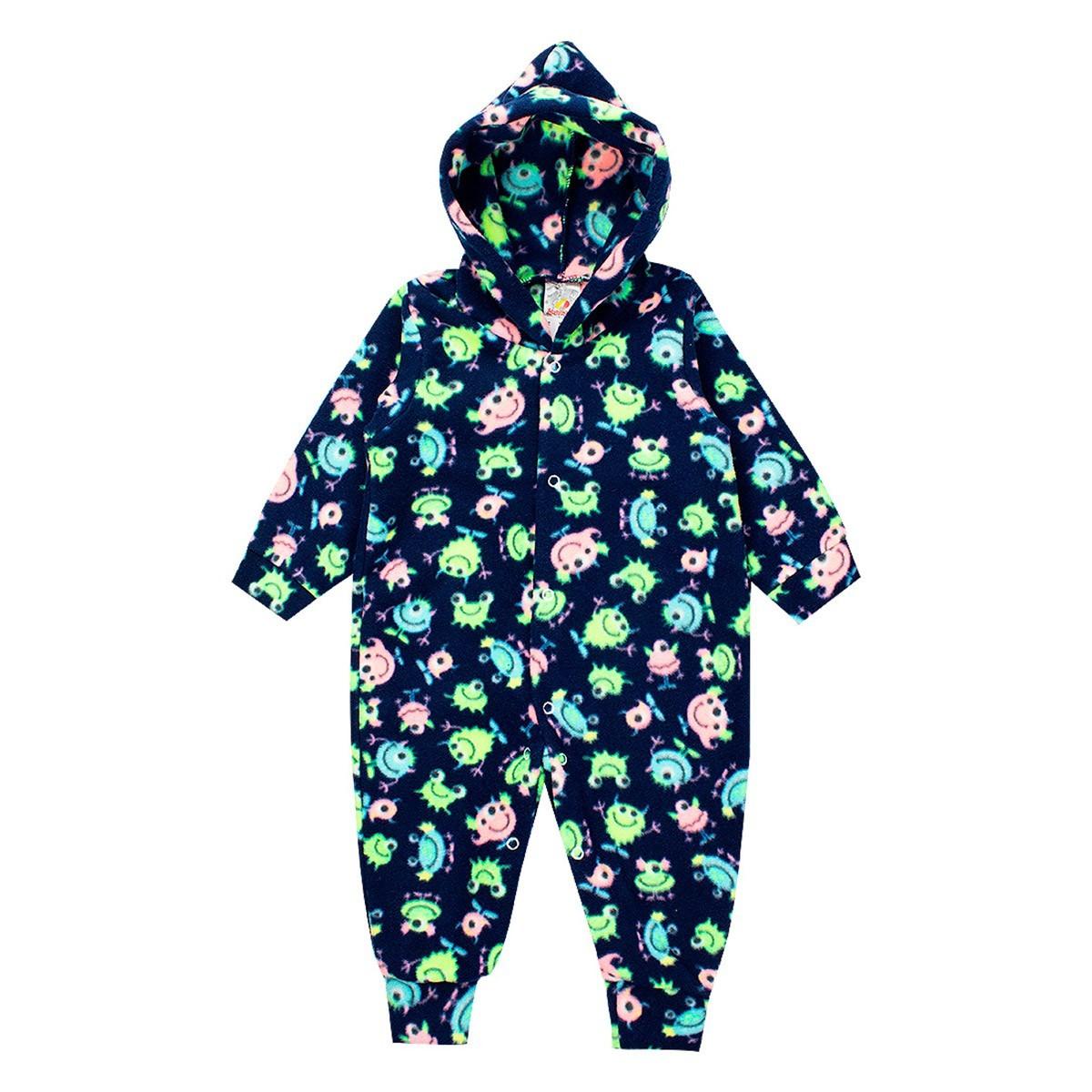 Macaquinho Bebê Menino Soft Com Botões Azul/Verde - Isensee