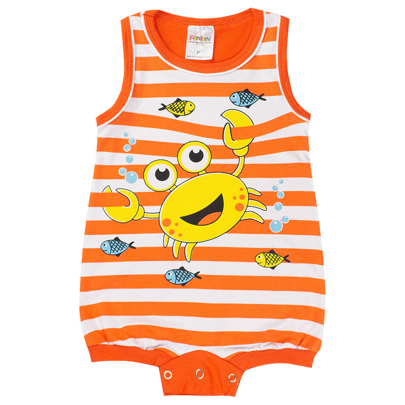 Macaquinho Regata Infantil Bebê Menino Siri