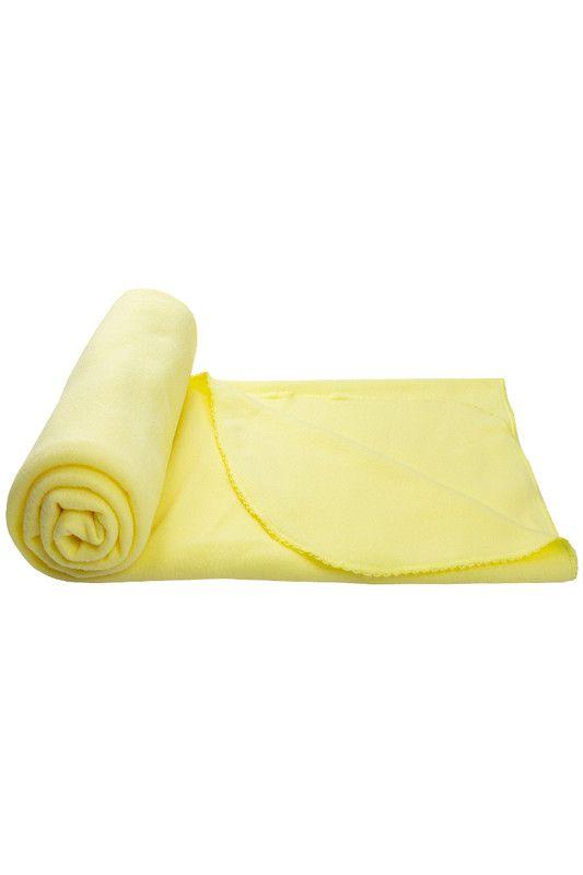 Manta Coberta Para Bebê Soft Com Detalhes Amarelo