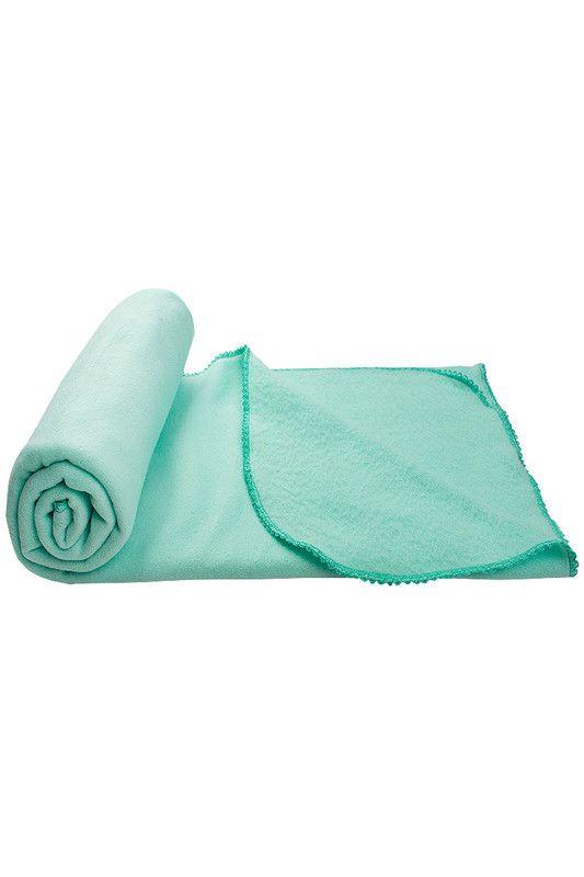 Manta Coberta Para Bebê Soft Com Detalhes Verde