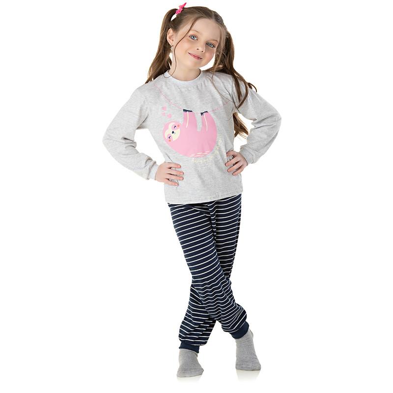 Pijama Infantil Menina Roupas Feminina Manga Longa Inverno