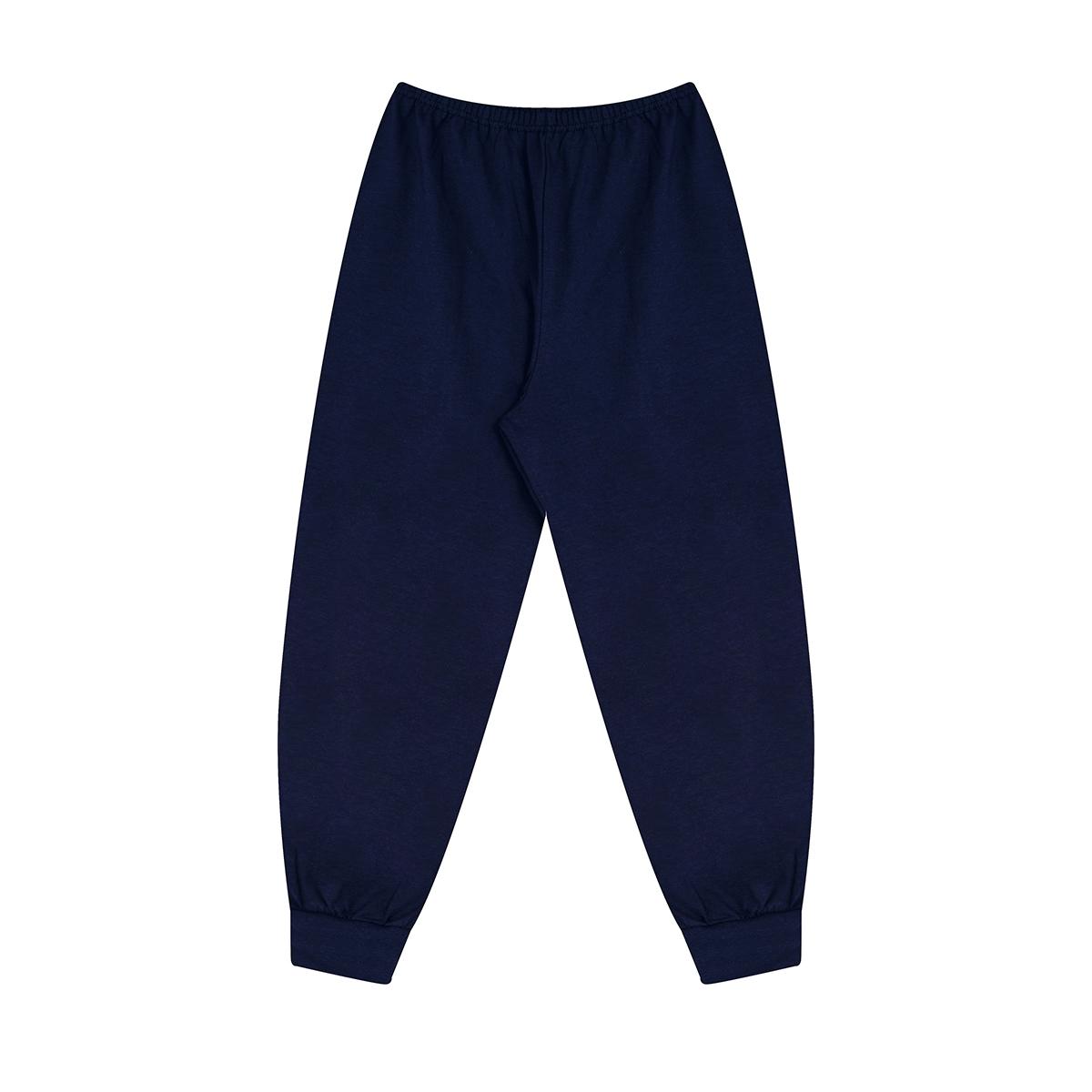 Pijama Infantil Menino Estampa Brilha no Escuro Gola Redonda