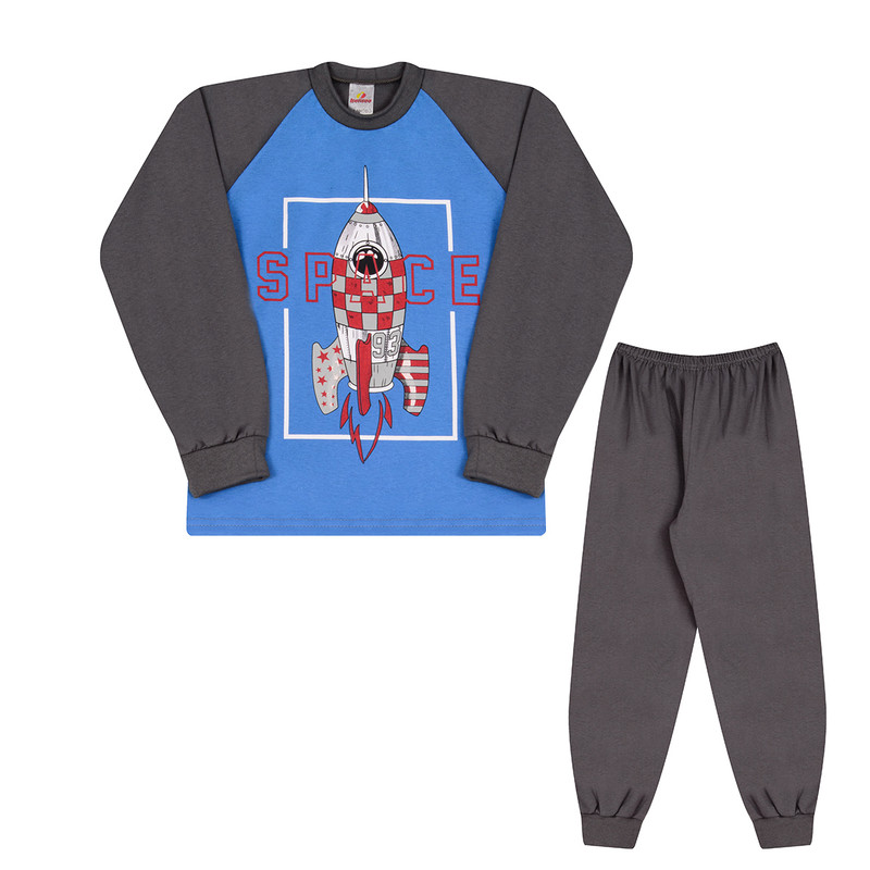 Pijama Infantil Menino Manga Longa Estampado Roupas Infantis