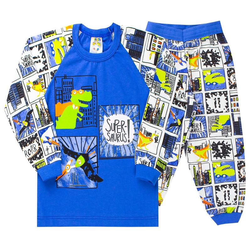 Pijama Infantil Menino Raglan Com Punho Roupas Inverno