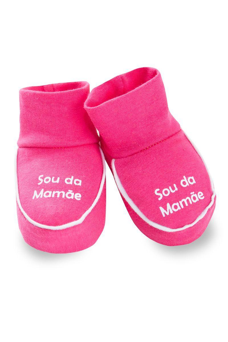 Sapatinho Com Frases Infantil Bebê Menina Rosa - Fantoni