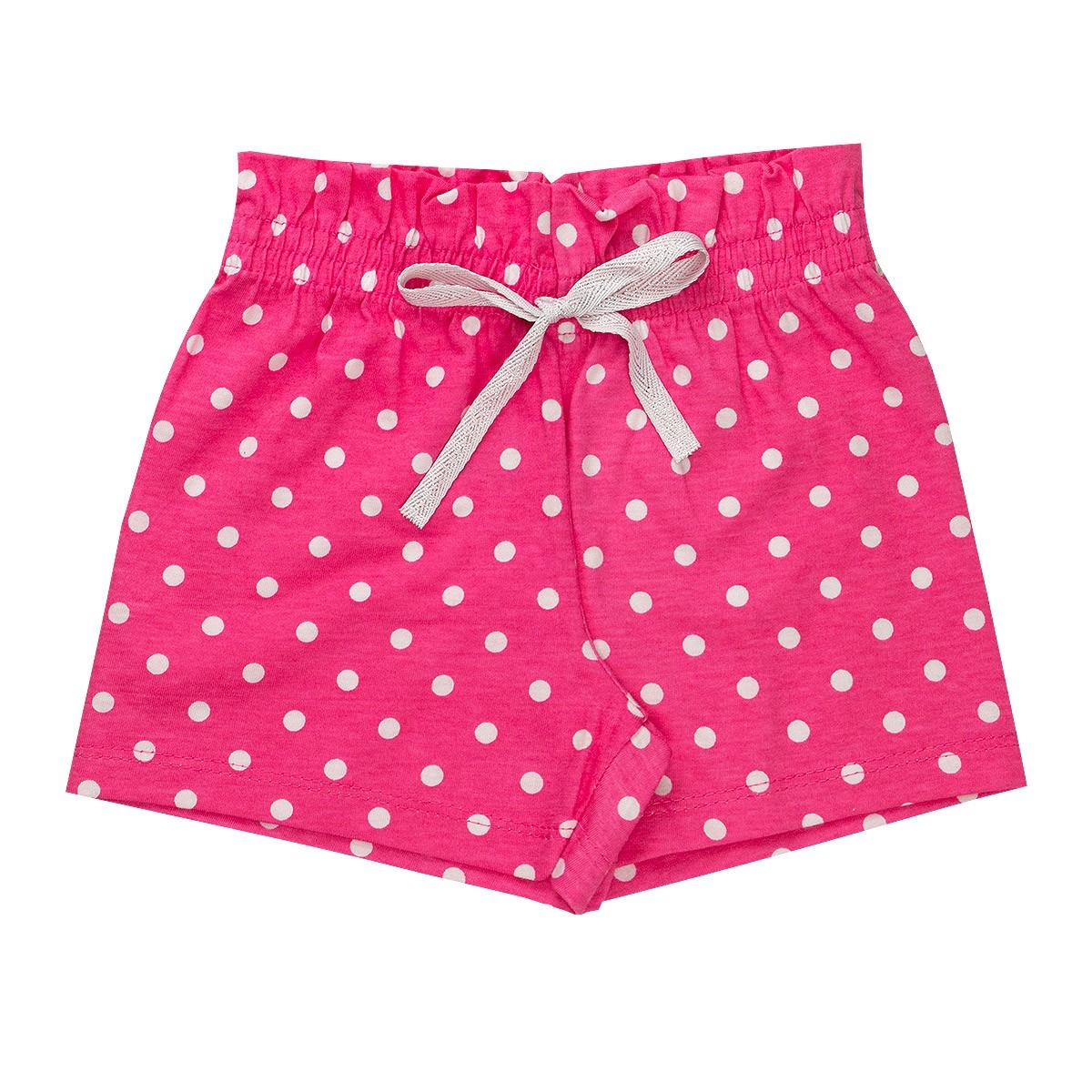 Shorts Fru - Fru Estampado Infantil Menina Rosa - Fantoni