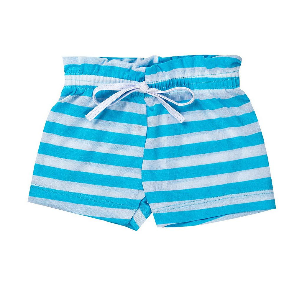 Shorts Fru - Fru infantil Menina De Malha Azul - Fantoni