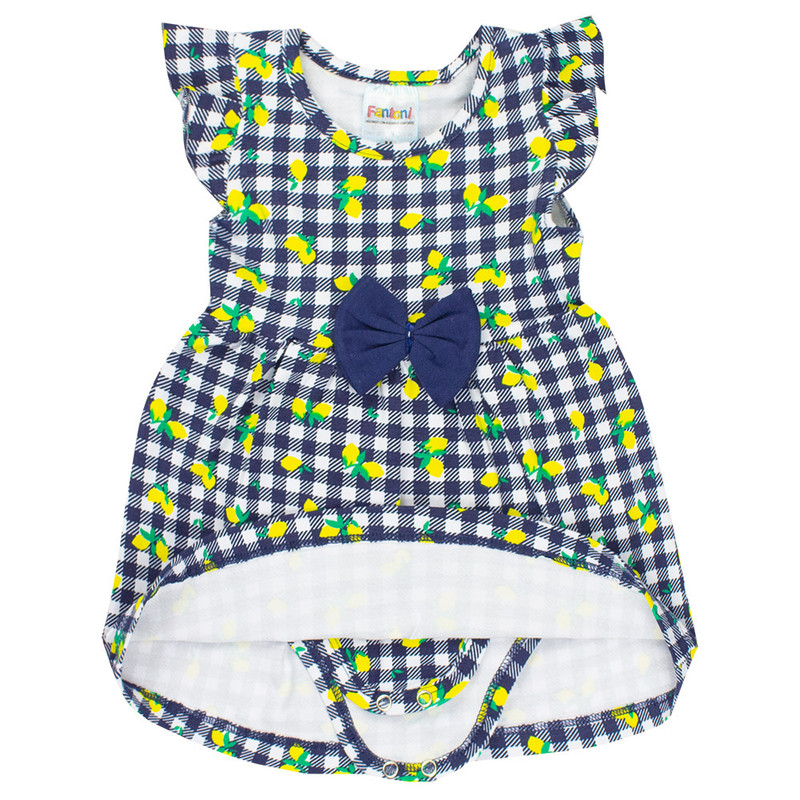 Vestidinho Body Cotton Bebê Menina Infantil Verão Atacado