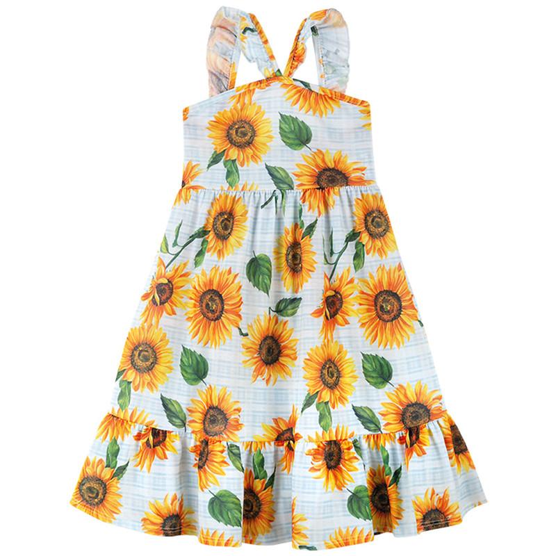 Vestido Floral Alcinha Longo Infantil Menina Verão