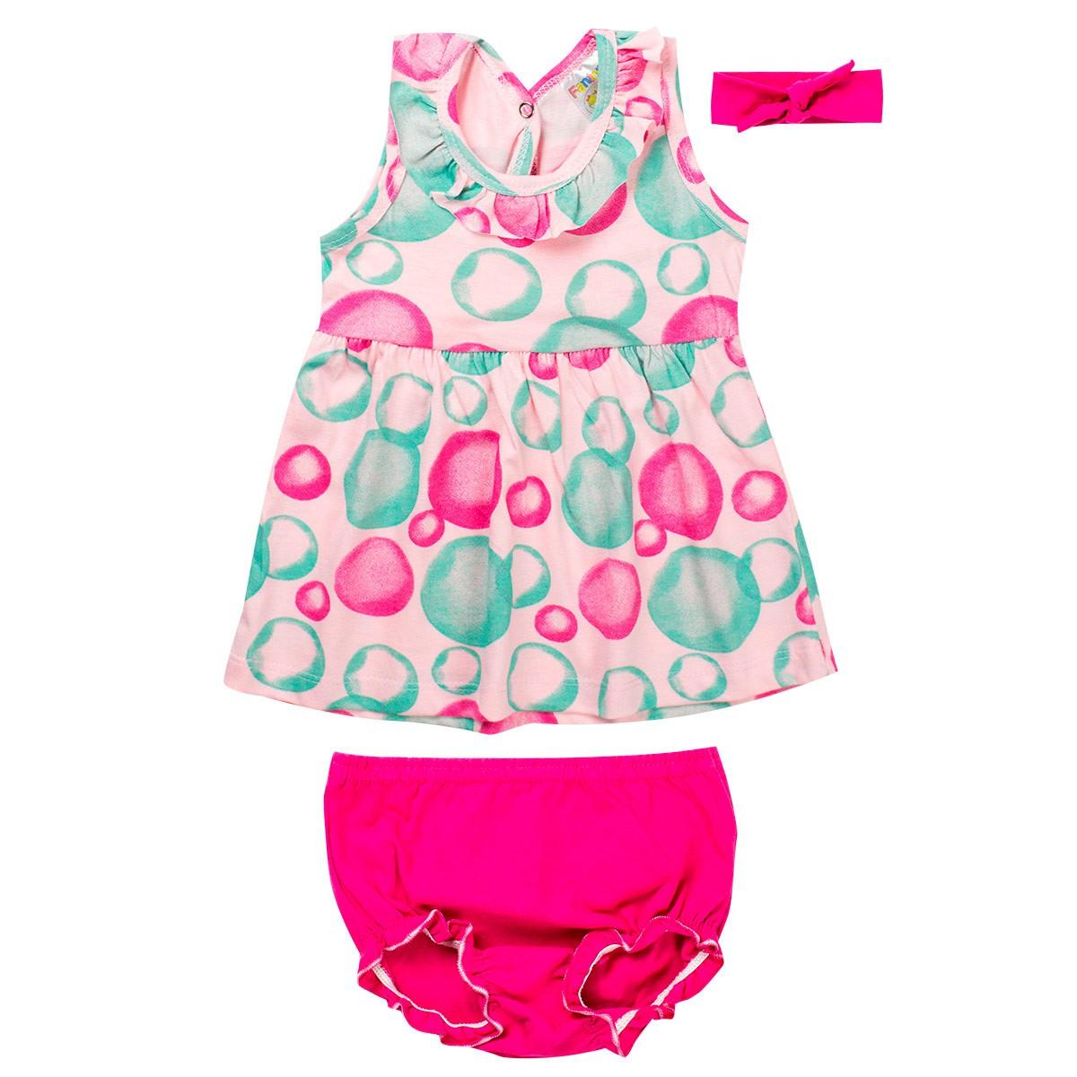 Vestido Infantil Bebê Pink - Fantoni