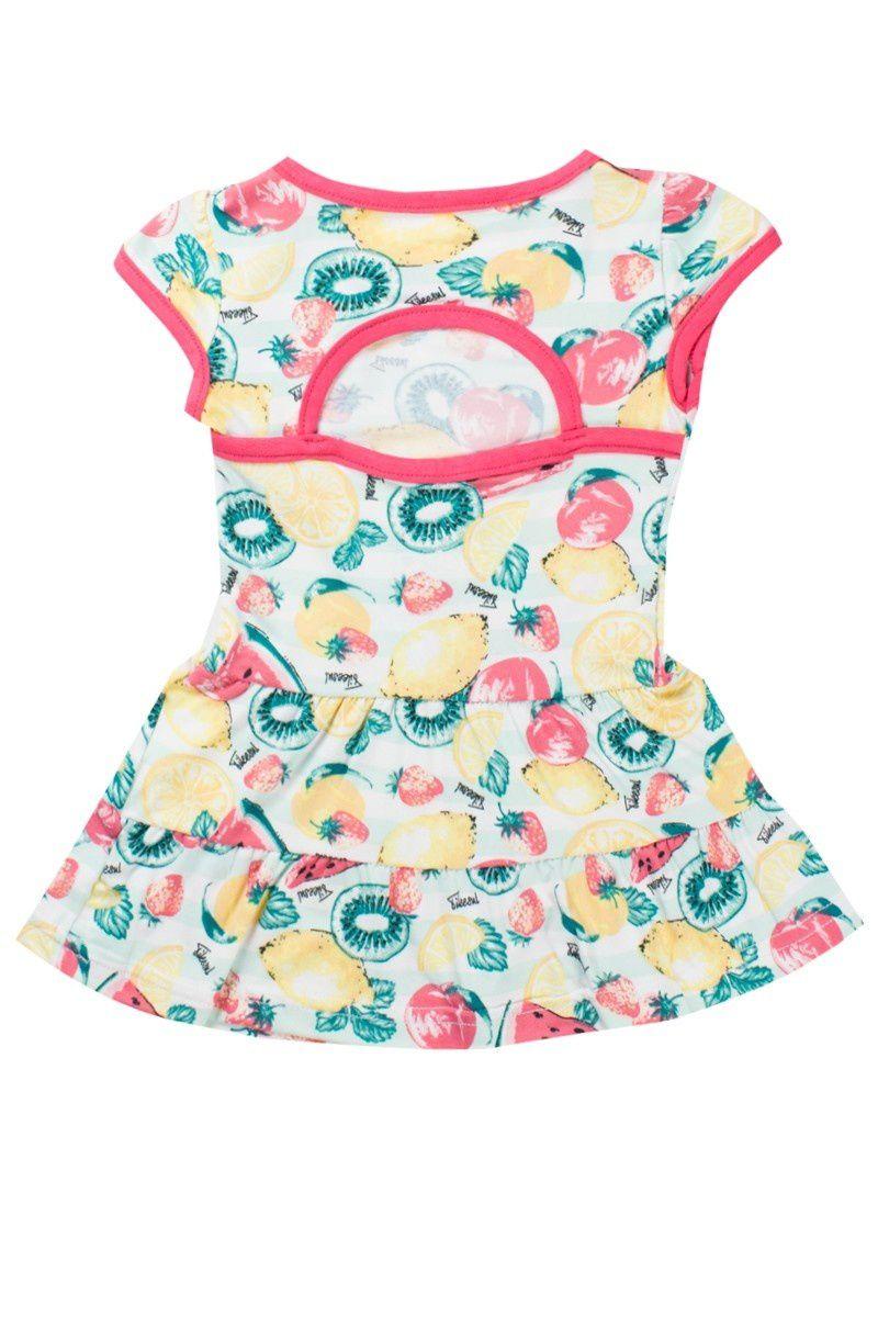 Vestido Infantil Feminino Cotton Brush Salmão - Tileesul