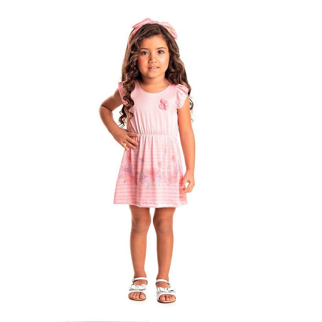 Vestido Infantil Menina Denim Bright Azul - Tileesul