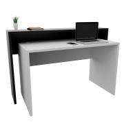 Composição Mesa (1 m x 60 cm x 74 cm) e Aparador (1,2 m x 30 cm x 90 cm) para Estação de Trabalho/Balcão de Atendimento