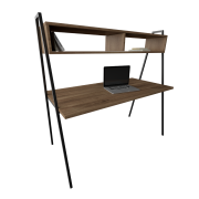 Mesa Home Office (1,4 m x 70 cm x 74 cm) com Nichos (1,4 m x 30 cm x 20 cm)