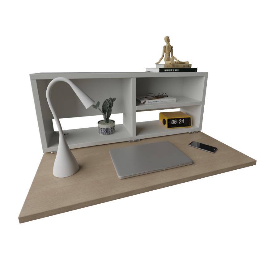 Rack Home Office P/ Fixação em Paredes com 1 Prateleira e Espaço para Notebooks de 1 m x 27,5 cm x 40 cm
