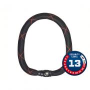 Cadeado Abus Nível 13 - Corrente de Aço IVY 9100/85 Preto/Vermelho