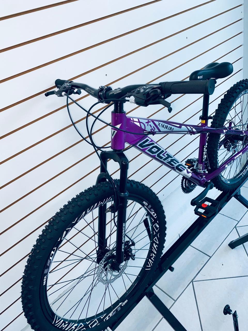 BICICLETA 26 VOLTEC SLALOM X2 21V ROXO/BRANCO/PRETO