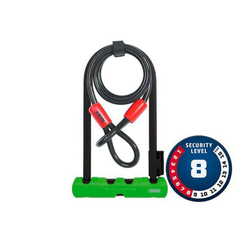 Cadeado Abus Nível 08 - U-Lock ULTRA 410/170HB230 GN SH34