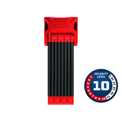 Cadeado Abus Nível 10 - BORDO™ BIG Dobrável 6000/120 Vermelho ST
