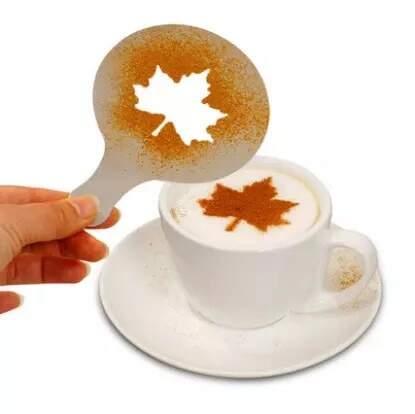 16 Peças Molde Para Decorar Café Barista Cappuccino