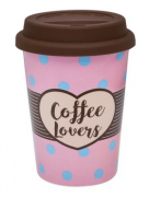 """Copo térmico para Viagem com Tampa tipo TO GO """"Coffee Lovers"""""""