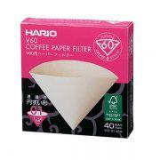 Filtro Hario V60 01 Cor Natural - 40 Unidades