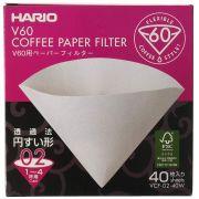 Filtro hario V60 02 branco 40 unid