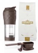 Kit Cafeteira Pressca+Balanca Dose Certa Marrom+Café PRONOVA