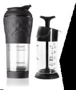 Kit Pressca para café mais espumador de leite preta