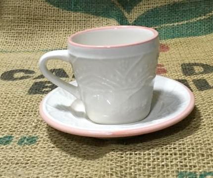 2 Xícara Pequena com Pires de 90 ml cores clássicas para café em casa