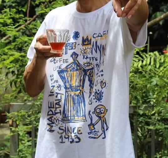 Blusa cafeteira italiana branca - Basquiat