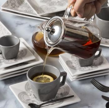 Bule para Chá em Vidro e Aço Inox com Infusor 800 ml