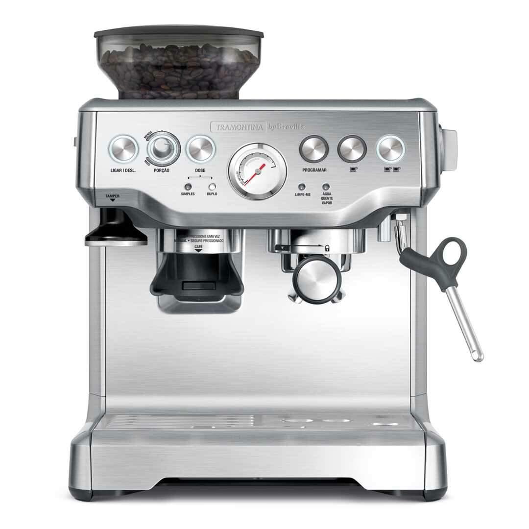 Cafeteira Breville 2,0 L com moedor de café acoplado - máquina de café espresso