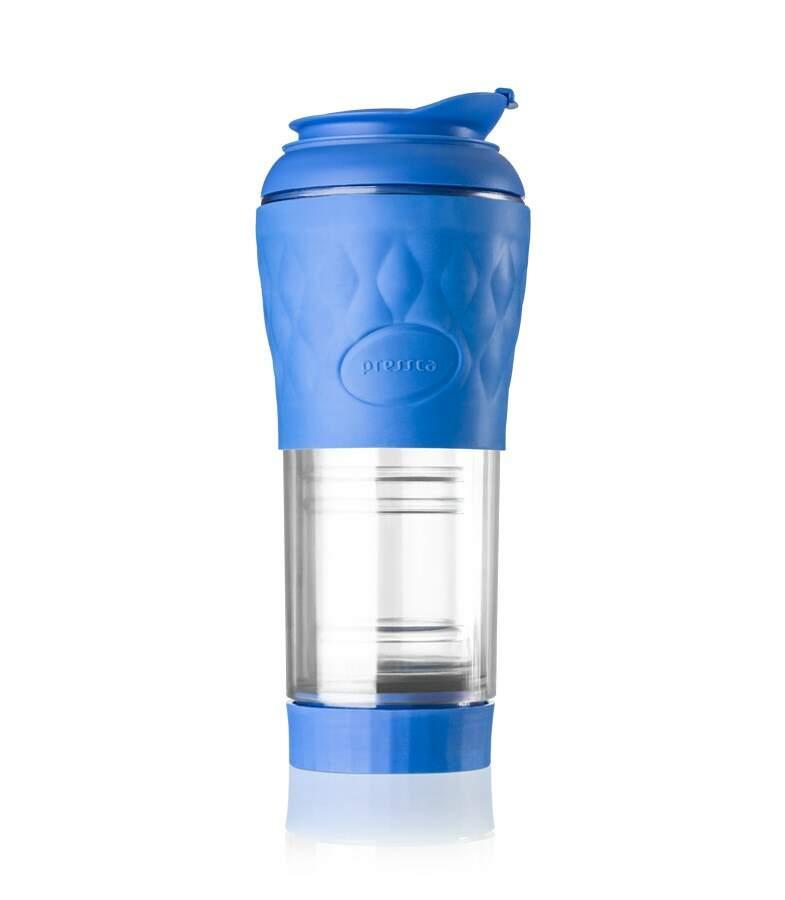 Cafeteira Pressca - Cafeteira Portátil - Cor Azul - 350 ml