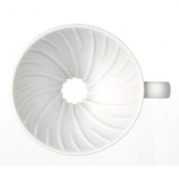 Coador de Café em Cerâmica Hario V-60 Tamanho 01 Branco
