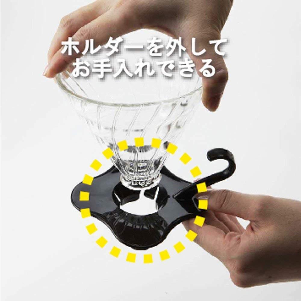 Coador de Café em Vidro Preto Hario V60-02