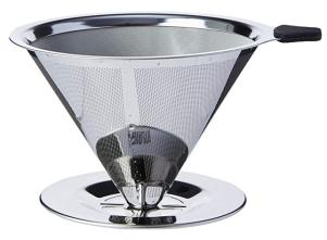 Coador De Café Reutilizável Pour Over Em Aço Inox Bialetti