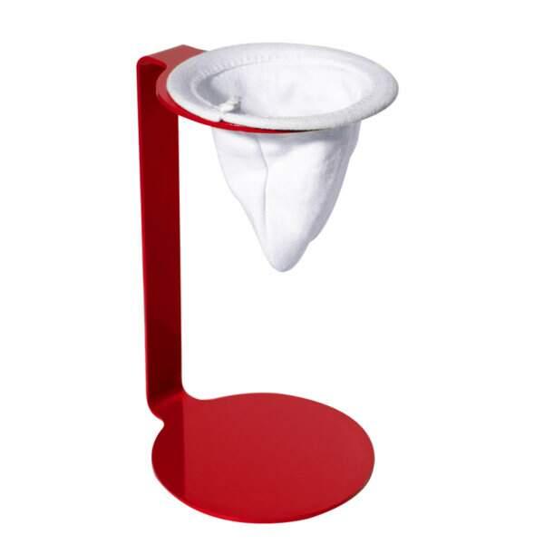 Coador individual de café - vermelho