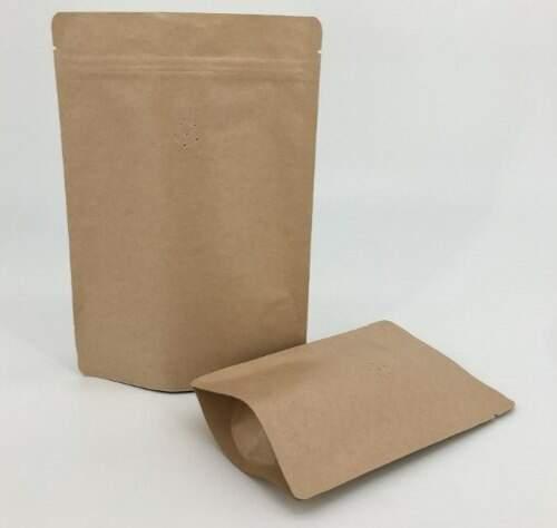 Embalagem Para Café Kraft Valvuladas 250g - 50 Unidades