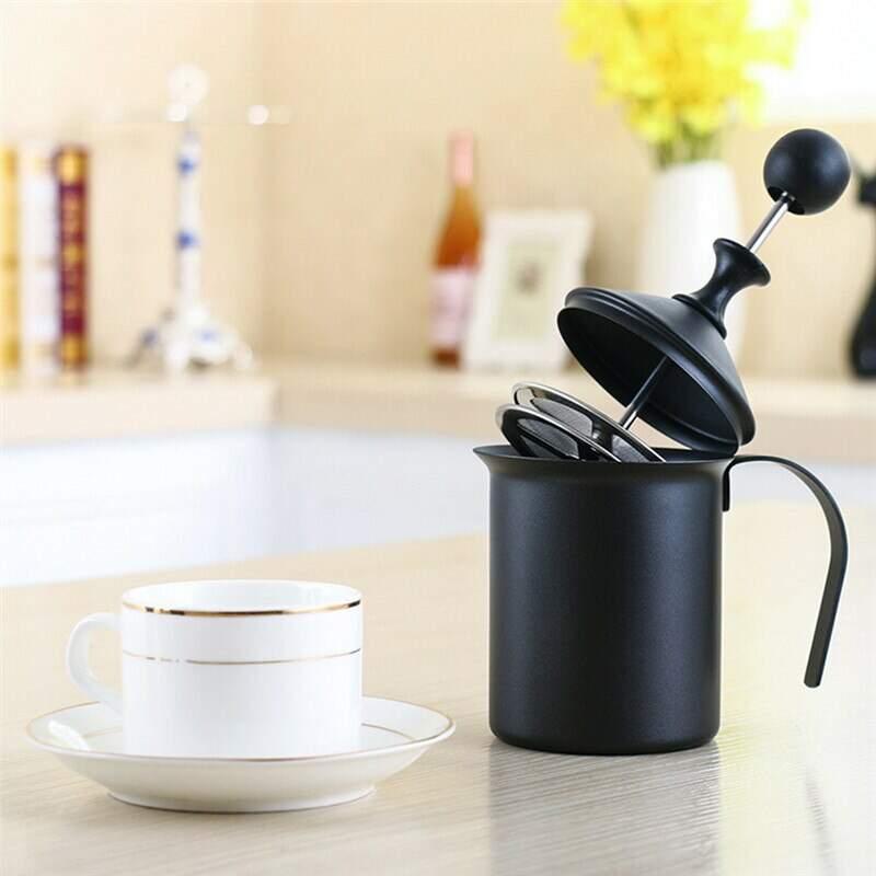 Espumador de Leite, Cremeira para Cappuccino Preta 400ml