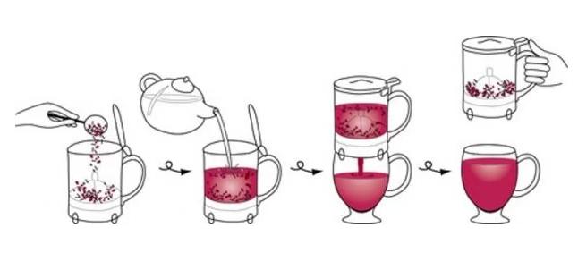 Handy Brew Bule Chá Chaleira Infusão 500ml